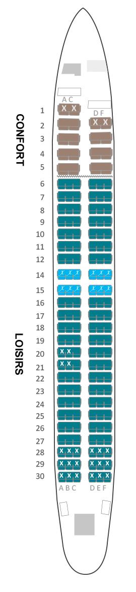 Boeing 737 800 air austral plan cabine visite en 360 for Plans de cabine gratuits