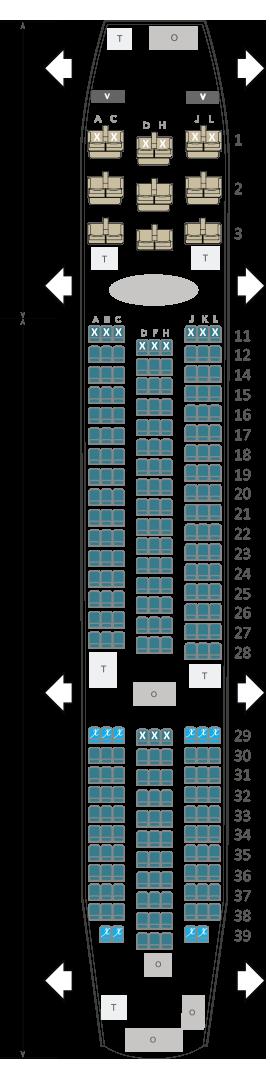 Boeing 787 air austral plan cabine envergure for Plans de cabine gratuits