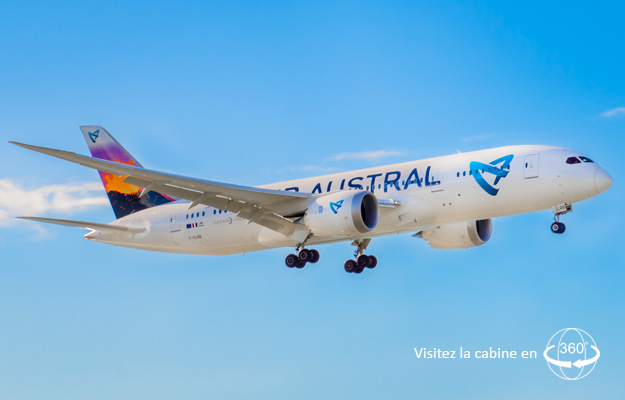 Boeing 787 air austral plan cabine envergure for Vol interieur inde