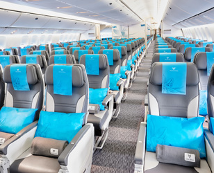 Classe loisirs economie air austral vol paris for Interieur boeing 777