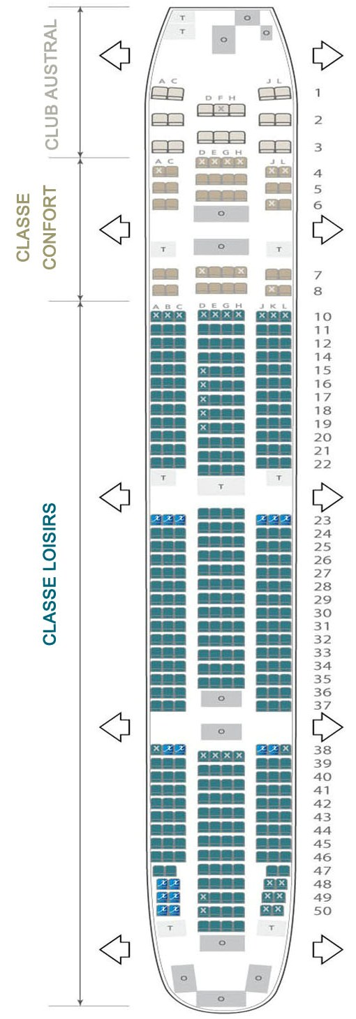 Boeing 777 300 er air austral plan cabine visite en for Plan cabine 777 300er