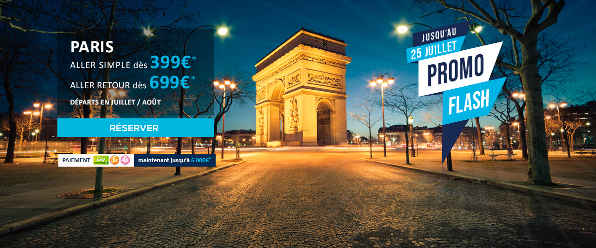 PROMO FLASH AIR AUSTRAL La Réunion vers Paris CDG