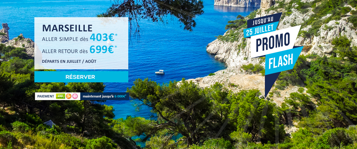 PROMO FLASH AIR AUSTRAL La Réunion vers Marseille